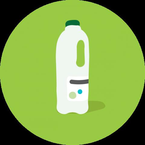 Plastic milk carton
